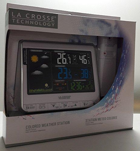 Colore Nero La Crosse Technology WS6835-BLA Stazione meteorologica con Schermo a Colori e Fasi lunari
