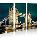 islandburner Bild Bilder auf Leinwand Tower Bridge London XXL Poster Leinwandbild Wandbild Dekoartikel Wohnzimmer Marke