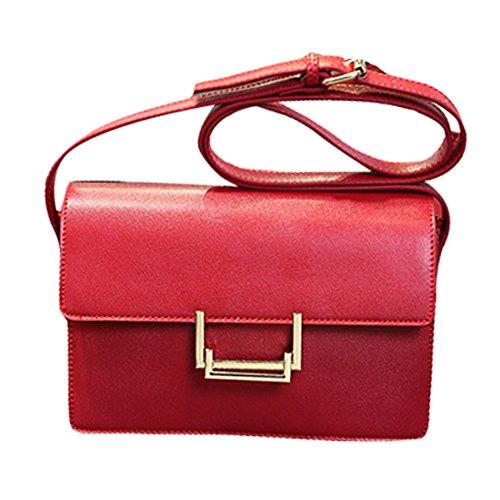 Nuova Piccola piazza della confezione Fashion Girls Shoulder Bag Messenger mini Shopping Viaggi (rosso)