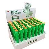 XINGSd - Goma de borrar de Cactus Creíble, para premios de estudiantes primarios, artículos de papelería de regalo promocionales en estilo fino Color Mixture