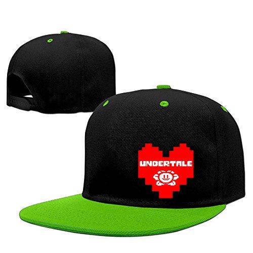 cedaei UNDERTALE corazón Flowey al aire libre Hip Hop bola algodón Sanpback Cap sombrero ajustable rojo