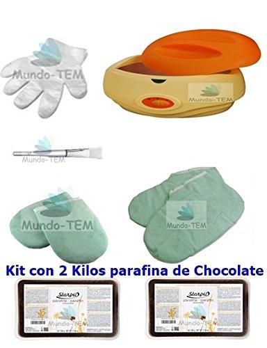 Mundo-TEM ® appareil fundidor de paraffine + Kit complet, 2 kg paraffine de chocolat, cadeaux : Manuel bref pour le traitement de paraffine.