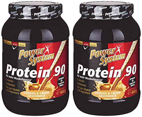Power Protein Cookie (Power System Protein 90 (2 x 660g) Eiweiss-Shake (Cookie & Cream))