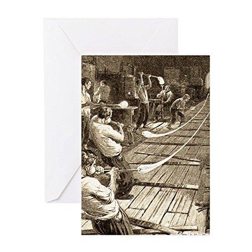 CafePress–Ziehen _ Glas _ tubes2–Grußkarte, Note Karte, Geburtstagskarte, innen blanko, glänzend