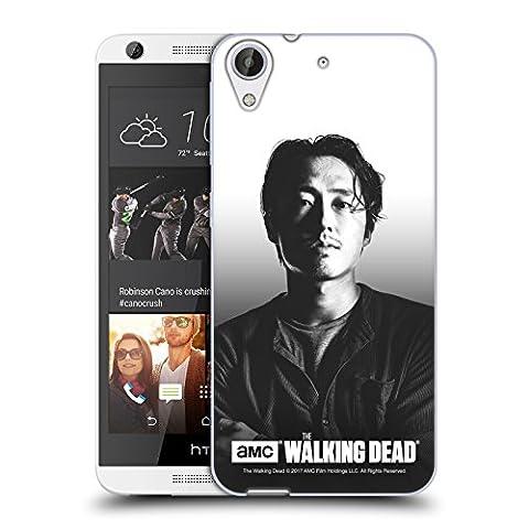 Officiel AMC The Walking Dead Glenn Portraits Filtrés Étui Coque en Gel molle pour HTC Desire 626