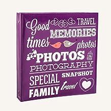 Arpan,Álbum de fotos, diseño de tamaño grande capacidad para 500fotos 15cm x 10 cm, Color Morado