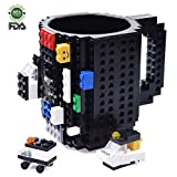 Best Gifts Men Under 30s - Build-on Brick Mug, Lego Style Coffee Mugs, Birthday Review