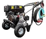 DeTec. Benzin Hochdruckreiniger 13 PS Terrassenreiniger Flächenreiniger (250 bar Arbeitsdruck, 15 L / Min Förderleistung, 5 Düsen für unterschiedliche Anwendungen, 10 Meter Hochdruckschlauch, 389 ccm 4-Takt Motor luftgekühlt)