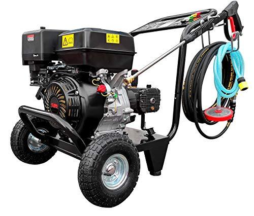 DeTec. Benzin Hochdruckreiniger 13 PS Garten Flächenreiniger 250 bar Arbeitsdruck