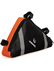 Roswheel Waterproof Bike Bicycle PVC Front Tube Triangle Frame Bag Front Saddle Frame Pouch Outdoor