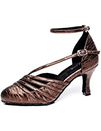 XIE Zapatos de mujer Ballroom Taogo latino Zapatillas de baile Sandalias talla 35 a 41, EU36