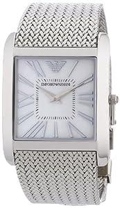 Reloj Emporio Armani AR2015 de cuarzo para mujer, correa de acero inoxidable color plateado de Emporio Armani
