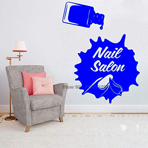 zqyjhkou Salone per Unghie Adesivi per vetrine Vinile Adesivo Manicure Moda Arte Decorazione per smalti per Ufficio Beauty Nails Salon Room 7 L 84cm x 110cm