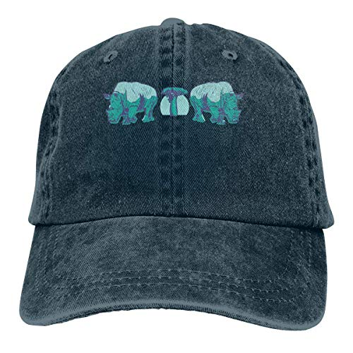 Mütze Baobab Rhino Men's Women's Adjustable Baseball Hat Yarn-Dyed Denim Trucker Hat Sports Cool Youth Golf Ball Unisex Cowboy hat Fedora Beach Hiking Skull 3D Printing caps ()