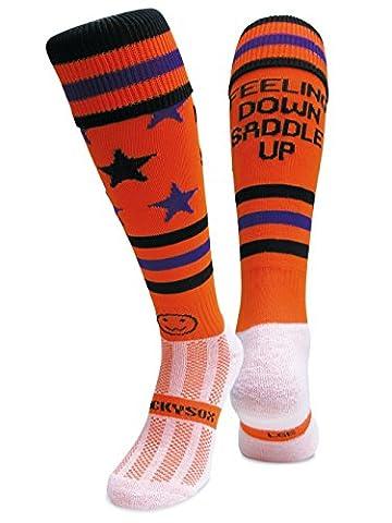 WackySox Feeling Down Saddle Up Sports Socks Adult Shoe Size 7-11