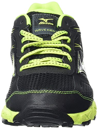 Mizuno Wave Kien, Scarpe da Corsa Uomo Nero (Black (Black/Dark Shadow/Safety Yellow))