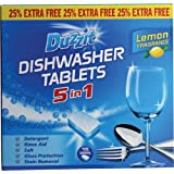 Duzzit Lave-vaisselle tablettes 5 en 1, de citron parfum