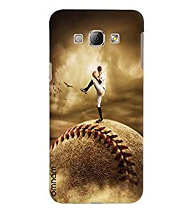 Omnam Rugby Player Printed Designer Back Cover Case For Samsung Galaxy A8