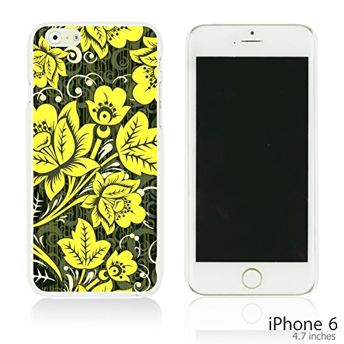 OBiDi - Flower Paintings Hardback Case / Housse pour Apple iPhone 6 / 6S (4.7 inch)Smartphone - Colorful Flowers With Birds Hohloma Gold Flower