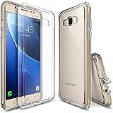 Funda Galaxy J7 2016, Ringke [FUSION] Crystal Clear Volver PC TPU de parachoques [Protección de Caídas / golpes tecnología de la absorción] [Se adjunta del casquillo del polvo] para Samsung Galaxy J7 2016 - Crystal View