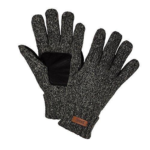 Sense42 Gants tricotés Gants d'hiver Femme Homme 3 Couleurs moucheté M/L & L/XL Gris