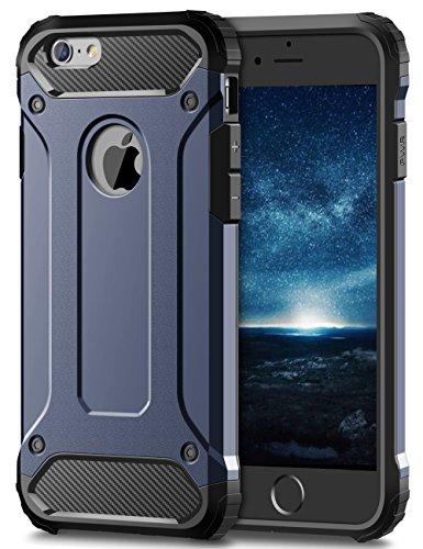 Coolden iPhone 6S Plus Hülle, Premium [Armor Serie] iPhone 6 Plus Outdoor Stoßfest Handyhülle Silikon TPU + PC Bumper Cover Doppelschichter Schutz Hülle für iPhone 6 Plus/6S Plus (Blau) (I Phone 6 Plus Cover Für Männer)