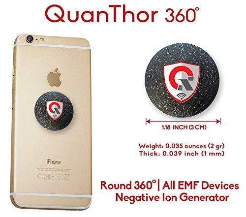 360 Tecnologia di Protezione EMF: EMF Assorbimento dal Telefono Cellulare, Wi-Fi, Computer Portatile - Tutti i Dispositivi EMF| Generatore di Ioni Negativi| Premi Internazionali come Anti Radiazioni Scudo 3CM EMF Protection (Black)