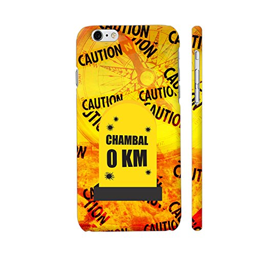 Colorpur iPhone 6 / 6s Cover - Chambal 0 KM Milestone On Orange Printed Back Case