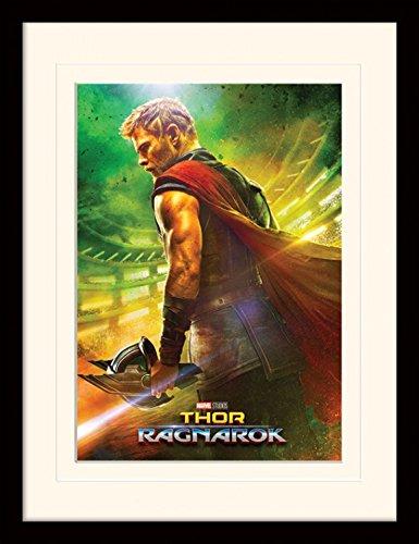 1art1 107247 Thor - Ragnarok, Teaser Gerahmtes Poster Für Fans Und Sammler 40 x 30 cm (Thor Dekorationen)