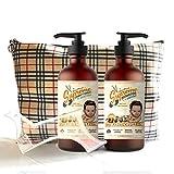 Bartshampoo und Conditioner von Bartstoppel Germany Bartpflege Set, mit neutralem Duft für Männer (2x300 ml)