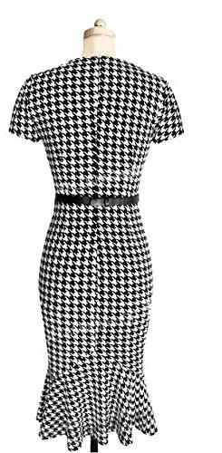 SunIfSnow - Robe spécial grossesse - Moulante - À Pois - Manches Courtes - Femme pied-de-poule