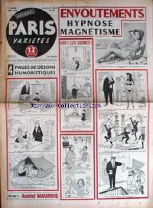 PARIS VARIETES [No 28] du 01/09/1955 - ENVOUTEMENTS - HYPNOSE ET MAGNETISME - DESSINS HUMORISTIQUES - ANDRE MAUROIS - LA LUNE - L'ATLANTIDE VOUS NOURRIRA PAR P. DEVAUX - AVONS-NOUS LE DROIT DE BATTRE NOS FEMMES. par Collectif
