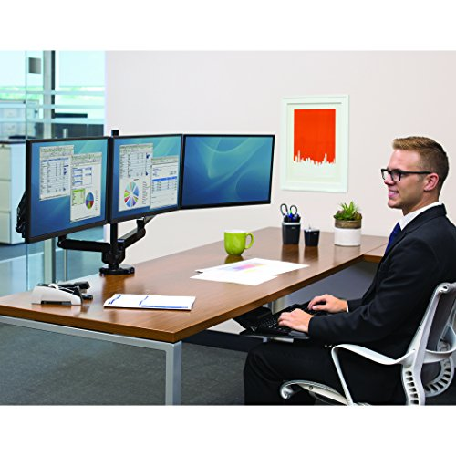 Fellowes Platinum Series Triple Arm VESA Compliant Mount for Monitor Upto 10 - 30-Inch