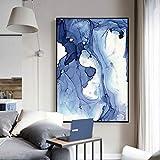 Mode künstler wohnwand leinwand zeichnung Nordlichter abstrakte landschaftsölgemälde wandbild für wohnzimmer wohnkultur wolke bunte leinwand kunst (kein rahmen) A2 50x70 CM