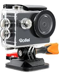 Rollei Actioncam 300 Plus - HD Video Funktion 720p, Unterwassergehäuse für bis zu 40m Wassertiefe, inkl. Schwimmgriff Bobber - schwarz