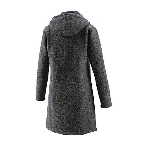 Mufflon Damen Walk Mantel Rika aus reiner Schurwolle Anthrazit