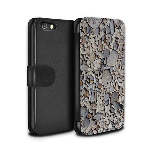 STUFF4 PU-Leder Hülle/Case/Tasche/Cover für Apple iPhone 5/5S / Kieselsteine Muster / Stein/Rock Kollektion Glatte Kiesel