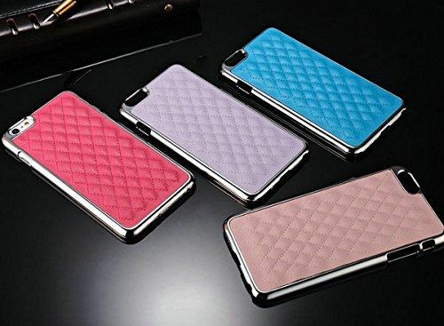 aridox (TM) Coque rigide de luxe pour iPhone 6Plus 14cm bord chromé en peau de mouton en cuir PU pour téléphone Coque arrière en plastique pour Apple iPhone 6
