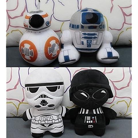 Nido del Bimbo 1134 - [BB8] Peluche Saga Star Wars 3D Con Ventosa - Morbidissimo - Dettagliato - Colori Originali - La forza sia con te!