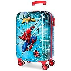Marvel Spiderman Street Equipaje de Mano, Multicolor, 55 cm, 37.4 Litros