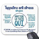Tappetino per mouse Istruzioni divertenti anti-stress: sbattere la testa qui! Divertente idea regalo per chi non sa usare il computer!
