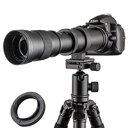Jintu 420 - 800mm F / 8,3 - 16. Alta definición, teleobjetivo de enfoque manual para cámara Canon EOS EF 5D Mark III 3 II 7D II 650D 700D 1000D 450D 550D 60D DSLR.