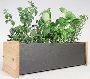 oak slate design fensterbank kr uter und pflanztrog f r innen und au en aus eiche schiefer. Black Bedroom Furniture Sets. Home Design Ideas