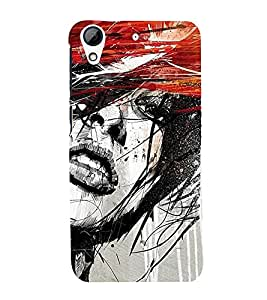 Abstract Girl 3D Hard Polycarbonate Designer Back Case Cover for HTC Desire 728G Dual Sim::HTC Desire 728G::HTC Desire 728