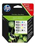 HP C2P42AE 932XL/933XL High Yield Original Ink Cartridges, Black/Cyan/Magenta/Yellow, Pack of 4
