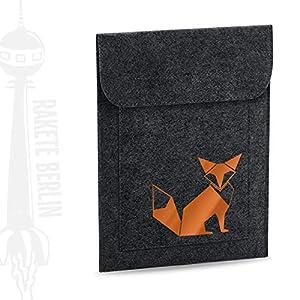 Tablet Filzhülle 'Fuchs Origami'