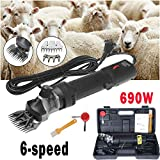 Sinbide 690W Tondeuse à Moutons Machine Tondeuse Electrique Professionnelle pour Moutons ... (Noir)
