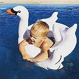 UClever Baby Schwimmsitz Aufblasbarer Schwimmring Kinderboot Schwimmen Ring weißer Schwan