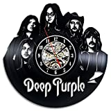 YXT Deep Purple Band Vinyl Record Wanduhr Home Decor Wall Clock