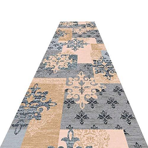 YXNN Korridor Teppich - Retro Gedruckt Konferenzraum Mall Treppe Gang Matte Wohnzimmer Dekoration Hochzeit Teppich Läufer - Angepasst (W0.6/0.8 / 1m) (Farbe : B, größe : 1mx3m) - Hochzeit Läufer Gang Rot